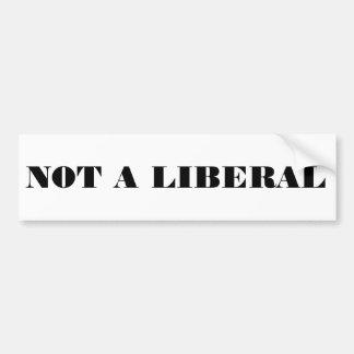 Autocollant De Voiture Pas un libéral