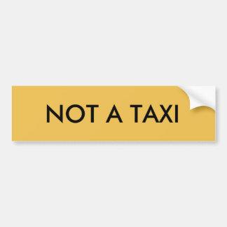 Autocollant De Voiture Pas un taxi