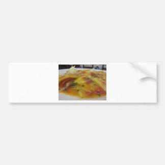 Autocollant De Voiture Pâtes faites maison avec la sauce tomate, oignon,