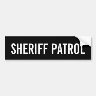 Autocollant De Voiture PATROUILLE de SHÉRIF - emblème blanc de logo