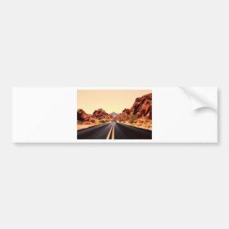 Autocollant De Voiture Paysage de voyage de route de route de montagnes