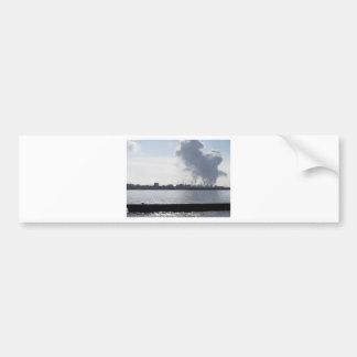 Autocollant De Voiture Paysage industriel le long de la côte polluant