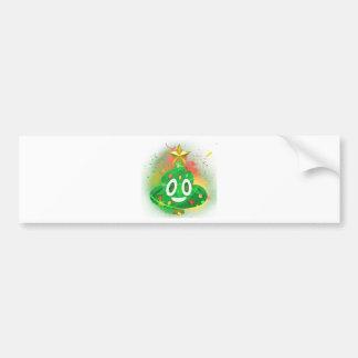 Autocollant De Voiture Peinture de jet d'arbre de Noël d'Emoji
