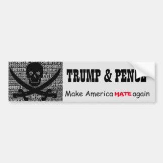 """Autocollant De Voiture """"Penny de Trump&. Faites l'Amérique DÉTESTER"""