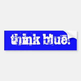 Autocollant De Voiture pensez le bleu !