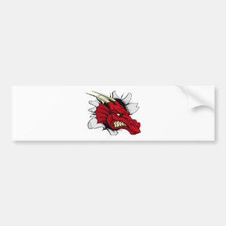 Autocollant De Voiture Percée rouge de dragon