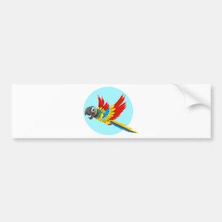 Autocollant De Voiture perroquet