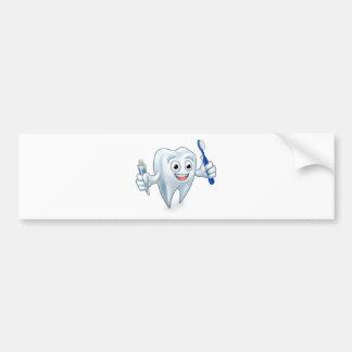 Autocollant De Voiture Personnage de dessin animé de mascotte de dent