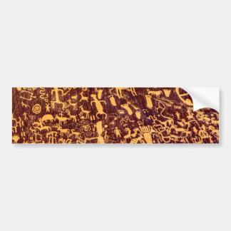 Autocollant De Voiture Pétroglyphe indienne de roche de journal antique