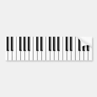 Autocollant De Voiture Piano noir et blanc