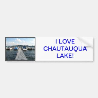 Autocollant De Voiture Pilier de bateau - lac Chautauqua
