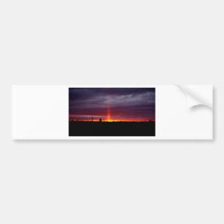 Autocollant De Voiture Pilier du feu au coucher du soleil, île de St