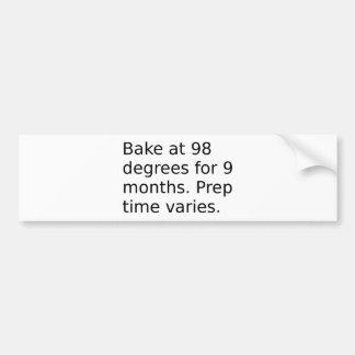 Autocollant De Voiture Plaisanterie de bébé - faites cuire au four à 98