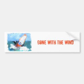 Autocollant De Voiture Planche à voile orange de voile d'expressioniste