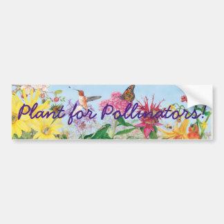 Autocollant De Voiture Plante pour des pollinisateurs !