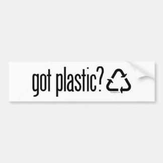 Autocollant De Voiture plastique obtenu ? Réutilisation du signe