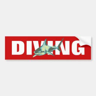 Autocollant De Voiture plongée - requins