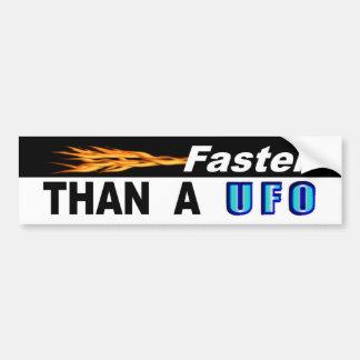 Autocollant De Voiture Plus rapidement que l'UFO d'A