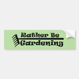 Autocollant De Voiture Plutôt fasse du jardinage