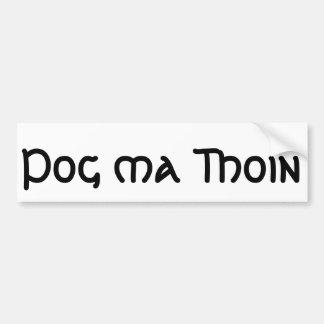 Autocollant De Voiture Pog mA Thoin (embrassez mon irlandais)