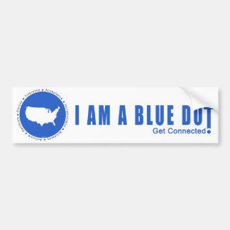 Autocollant De Voiture Point bleu Etats-Unis