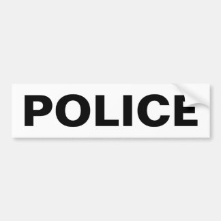 Autocollant De Voiture POLICE - emblème noir de logo