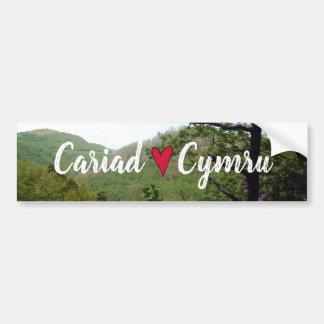 Autocollant De Voiture Pont de diables de paysage de colline de Cariad