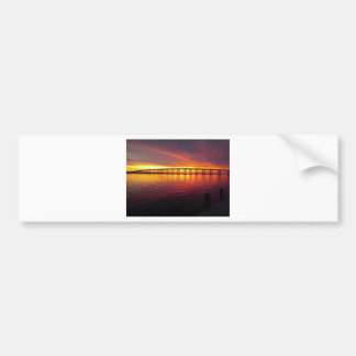 Autocollant De Voiture Pont de ville de Morehead au coucher du soleil