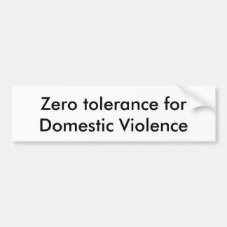 Autocollant De Voiture Position contre la violence familiale