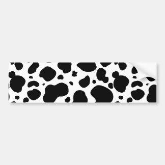 Autocollant De Voiture Poster de animal noir et blanc de motif de taches