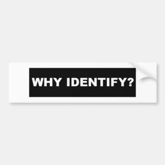 Autocollant De Voiture Pourquoi identifiez le noir