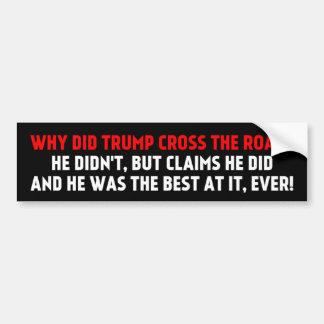 Autocollant De Voiture Pourquoi Trump la croix l'adhésif pour pare-chocs