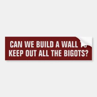 Autocollant De Voiture Pouvons-nous construire un mur pour empêcher