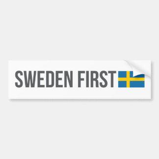 Autocollant De Voiture Premier drapeau suédois MSGA de la Suède