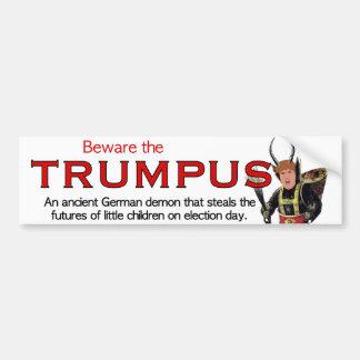 Autocollant De Voiture Prenez garde du Trumpus !  Grand Trumpus