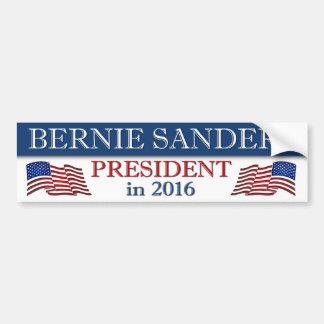 Autocollant De Voiture Président 2016 de ponceuses de Bernie patriote