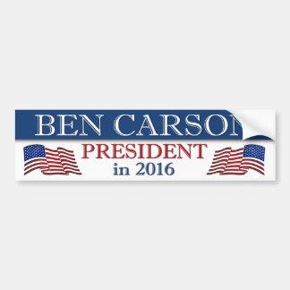 Autocollant De Voiture Président de Ben Carson en 2016