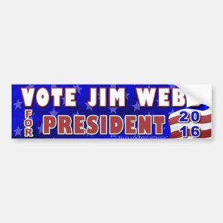 Autocollant De Voiture Président de JIM Webb élection 2016 Démocrate