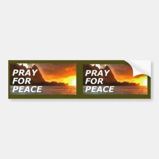 Autocollant De Voiture Priez pour la paix dans la péninsule coréenne - 2