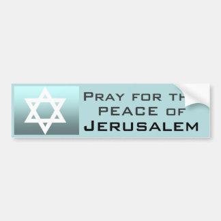 Autocollant De Voiture Priez pour la paix de Jérusalem