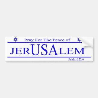 Autocollant De Voiture Priez pour la paix de l'adhésif pour pare-chocs de