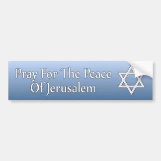 Autocollant De Voiture Priez pour la paix de l'étoile de David de