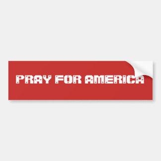 Autocollant De Voiture Priez pour l'Amérique