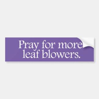 Autocollant De Voiture Priez pour plus de ventilateurs de feuille