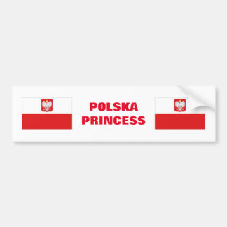 AUTOCOLLANT DE VOITURE PRINCESSE DE POLSKA