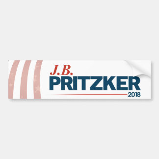 Autocollant De Voiture PRITZKER - JB Pritzker pour le gouverneur