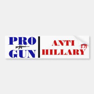Autocollant De Voiture Pro arme à feu, anti Obama, anti Hillary, anti