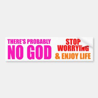 Autocollant De Voiture Probablement aucun Dieu