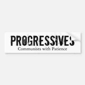 Autocollant De Voiture Progressifs : Communistes avec la patience (sur le