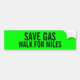 Autocollant De Voiture Promenade drôle de gaz d'économies pour l'adhésif